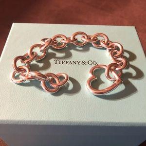 Tiffany & Co. Silver Heart Clasp Link Bracelet